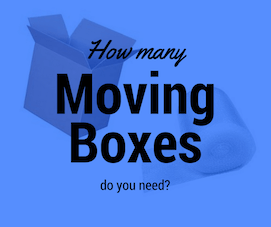 How many moving boxes do you need 1 1